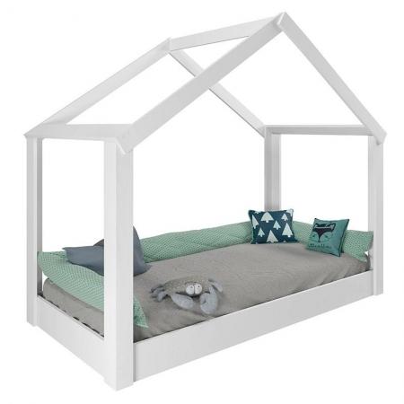 Mini Cama Montessoriana Tiny House 21A Branco Acetinado - Pura Magia