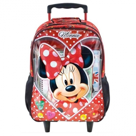 Mochilete Escolar Minnie Mouse Love 8911 - Xeryus