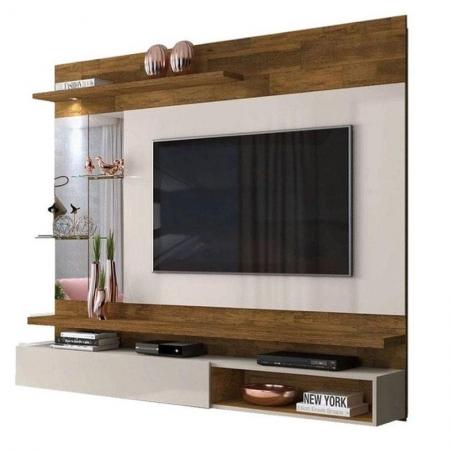 Painel para TV Abruzo Demolição Off White - Dj Móveis