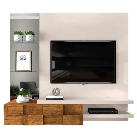 Painel para TV Ambar Off White Demolição - Dj Móveis