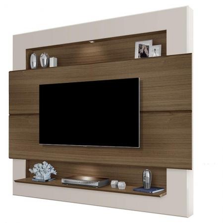 Painel para TV Riviera 1.6 Amêndoa Off White - Luapa Móveis