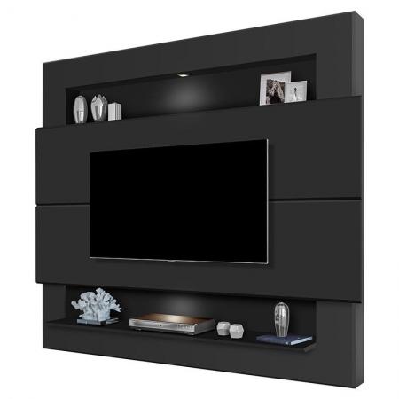 Painel para TV Riviera 1.6 Preto Fosco - Luapa Móveis