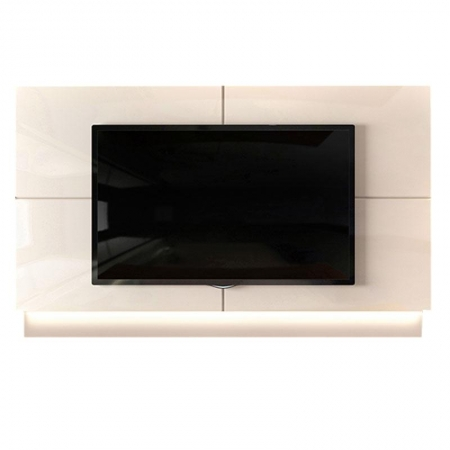 Painel para TV Safira Off White - Dj Móveis