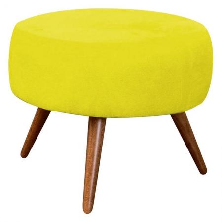 Puff Redondo Amarelo - Innova Decor