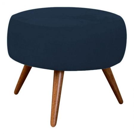 Puff Redondo Azul Marinho - Innova Decor