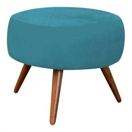 Puff Redondo Azul Turquesa - Innova Decor
