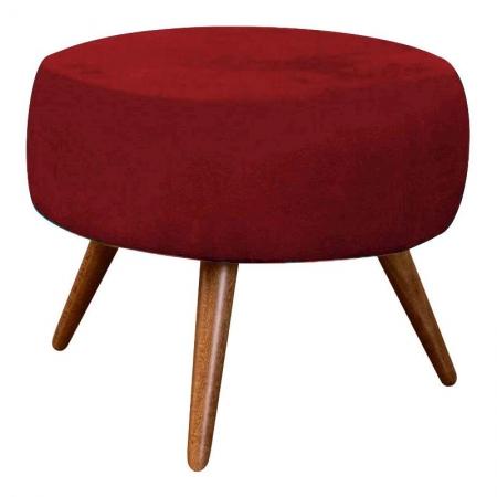 Puff Redondo Vermelho - Innova Decor