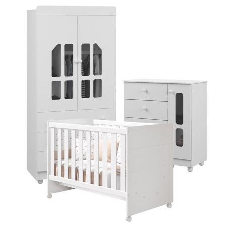 Quarto de Bebê Katatau Flex 2 Portas Branco Brilho - Reller