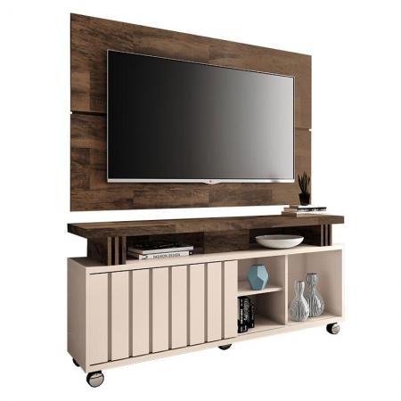 Rack Bancada e Painel para TV Rivera 1.3 Deck Off White - HB Móveis