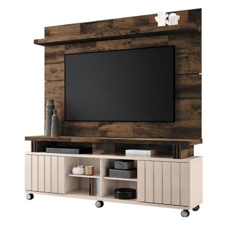 Rack Bancada e Painel para TV Rivera 1.8 Deck Off White - HB Móveis