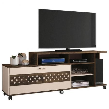 Rack Bancada para Sala Inovatta Deck Off White - HB Móveis