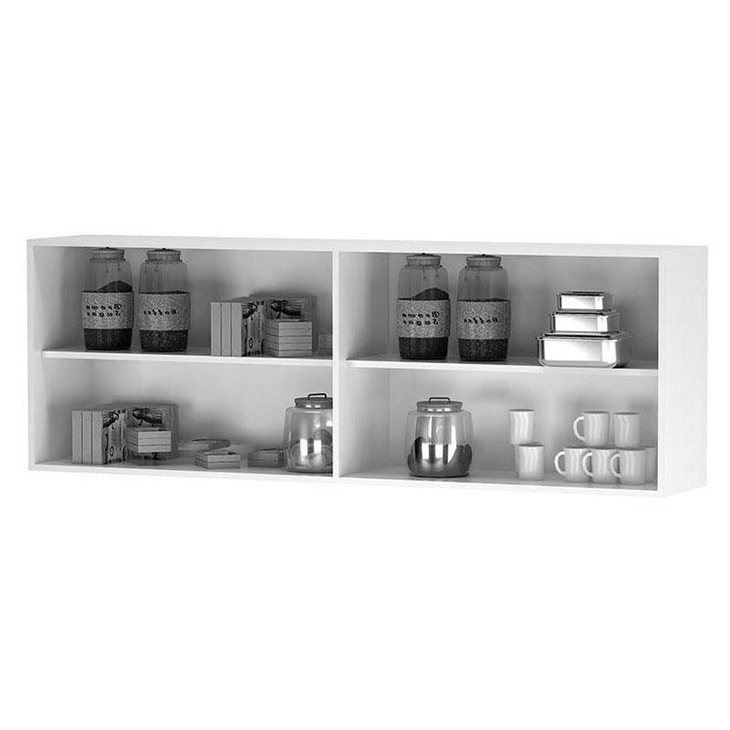 Armário Aéreo de Cozinha 4 Portas Avelã Castanho - AJL