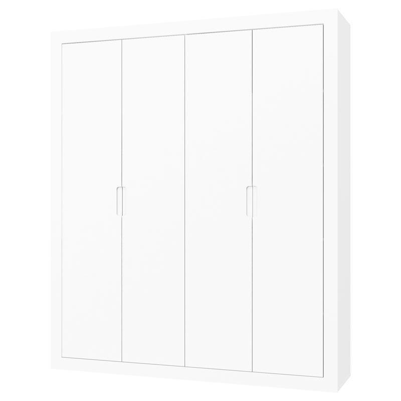Berço Multifuncional Formare e Guarda Roupa Tutto New 4 Portas Branco Acetinado - Matic