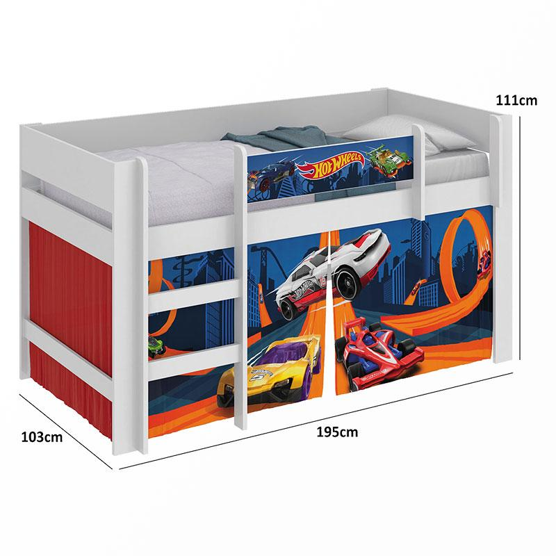 Cama Infantil Hot Wheels Play - Pura Magia