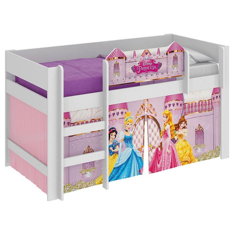 Cama Infantil Princesas Disney Play Branco - Pura Magia