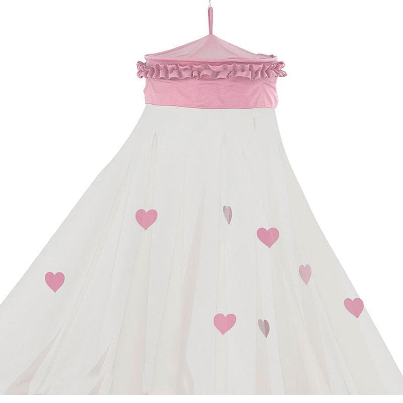 Cama Infantil Princesas Disney Star com Dossel de Teto Rosa - Pura Magia