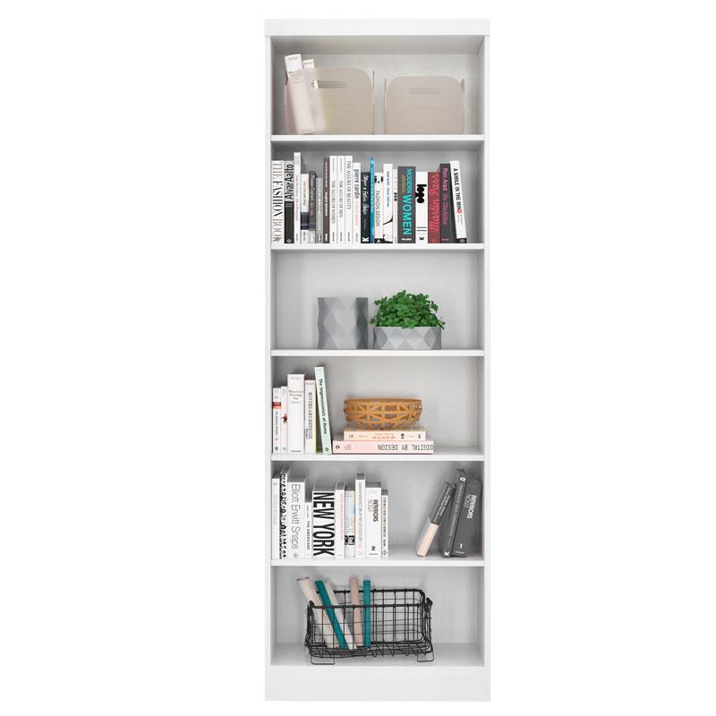 Estante para Livros Linus 1404 Branco - Qmovi