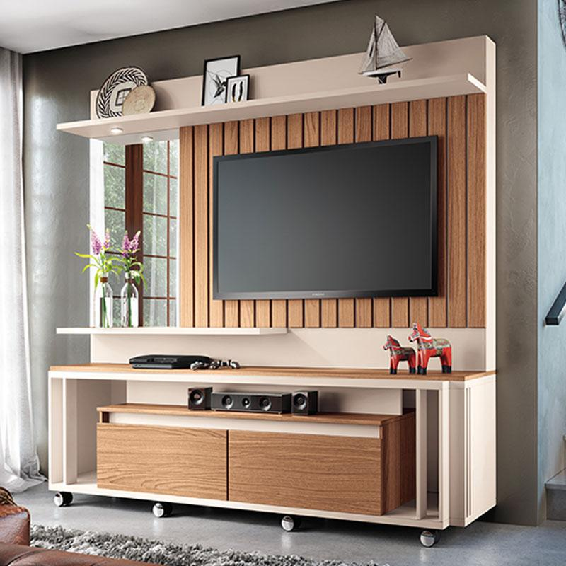 Home Theater Eclipse Off White Nature - HB Móveis