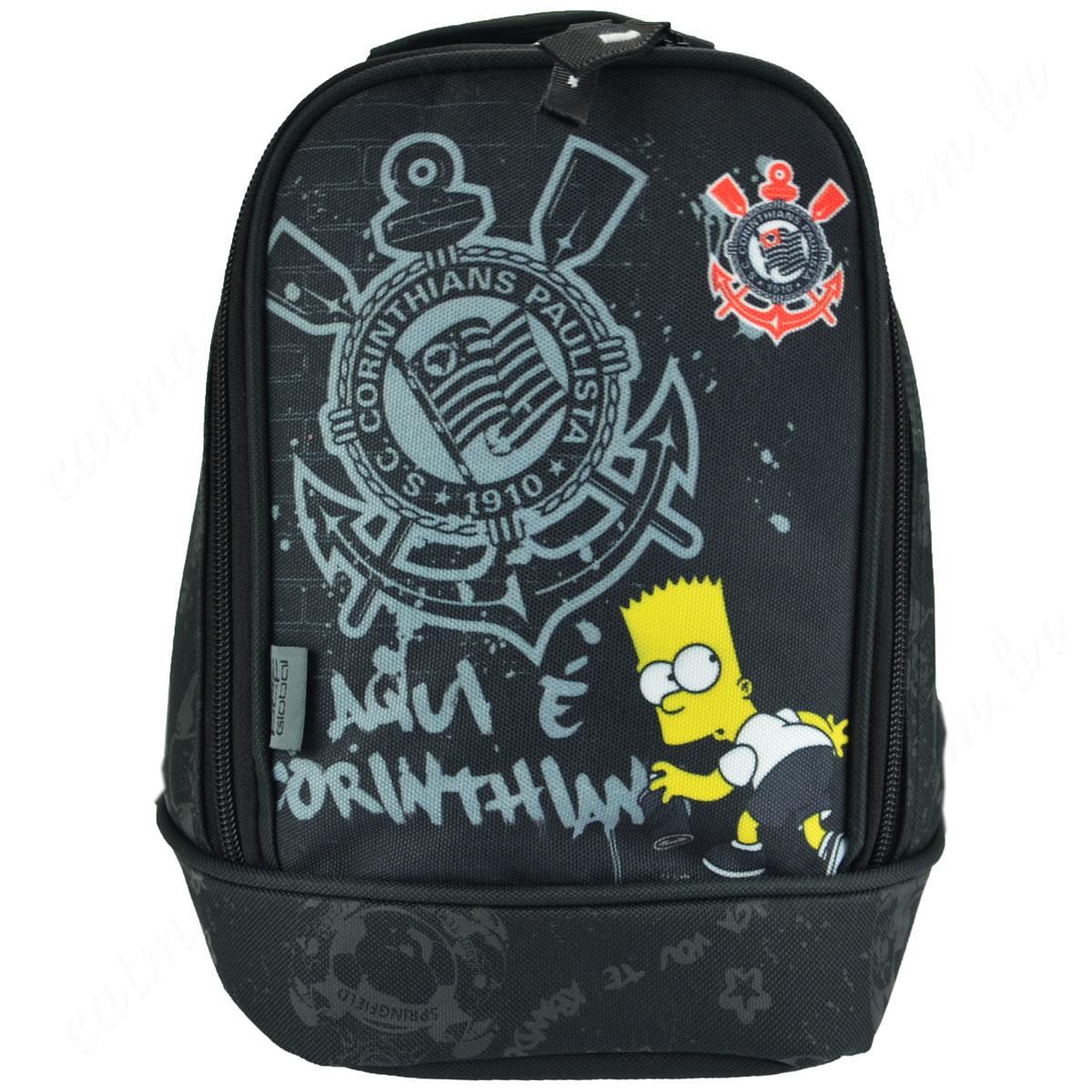 Lancheira Escolar Monfort Simpsons Corinthians Bart Timao 940C11