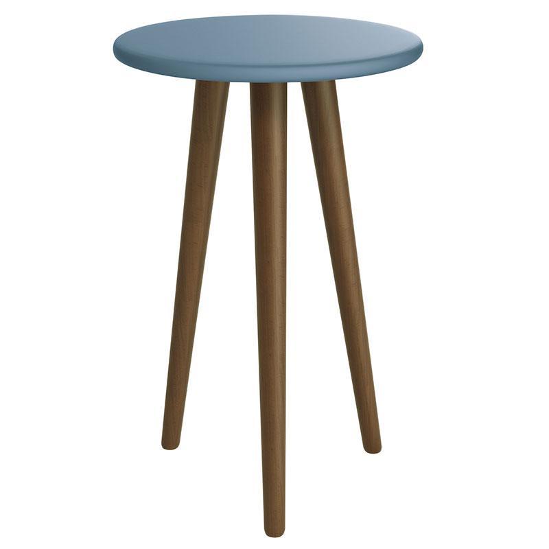 Mesa de Canto Theo Azul Amadeirado - Reller