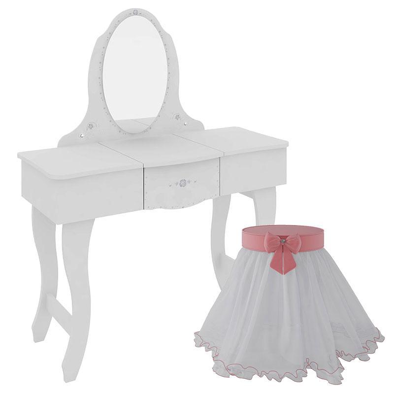 Penteadeira Infantil Make e Banqueta Encanto Clean 9A - Pura Magia