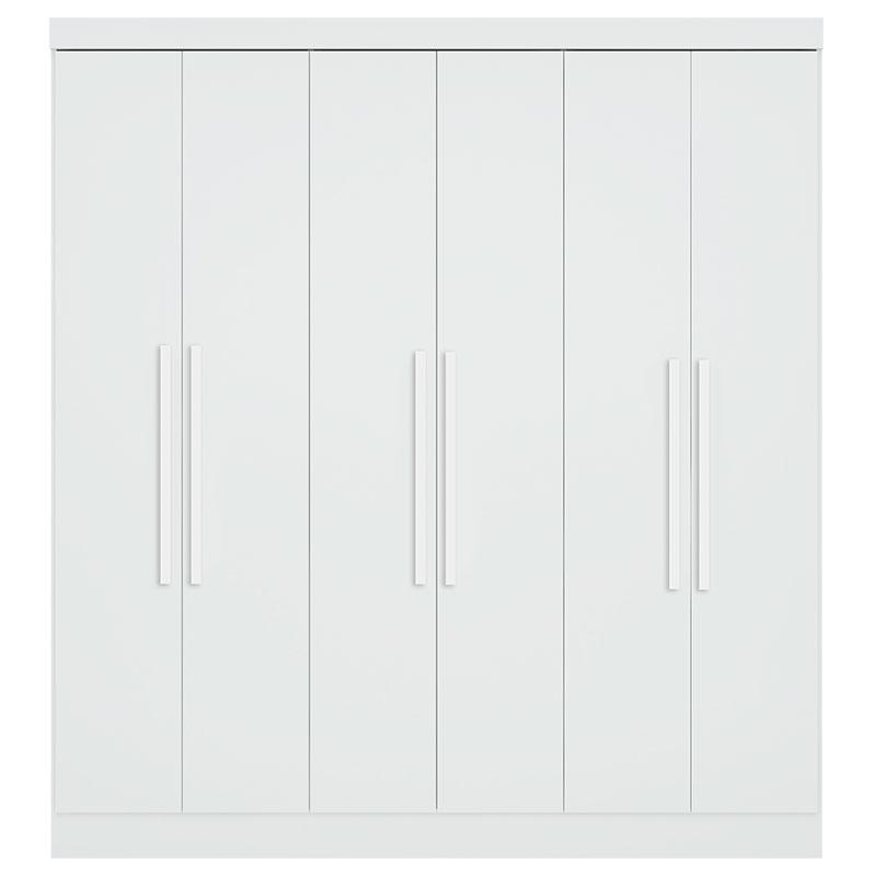 Quarto Casal 6 Portas Cômoda com Porta Luna 775 Branco - Qmovi