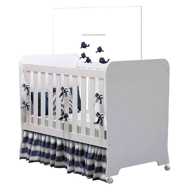 Quarto de Bebê Completo Carícia 3 Portas Branco Acetinado - Móveis Estrela