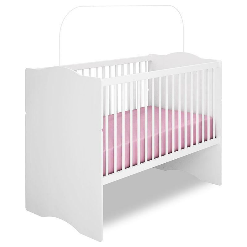 Quarto de Bebê Lívia com Berço Alegria Branco Brilho - Phoenix