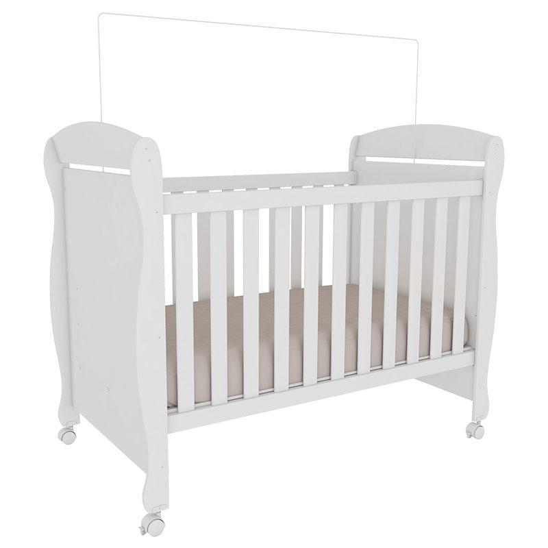 Quarto de Bebê Mila 4 Portas Branco Brilho - Peroba Móveis
