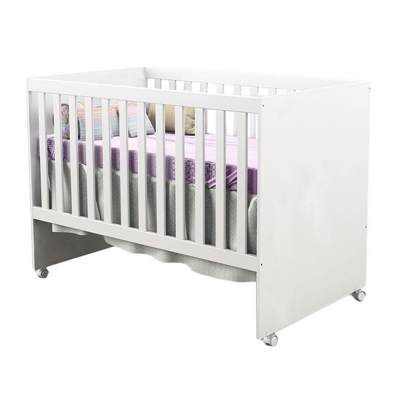 Quarto de Bebê Selena 3 Portas com Berço Gabi Branco Brilho - Carolina