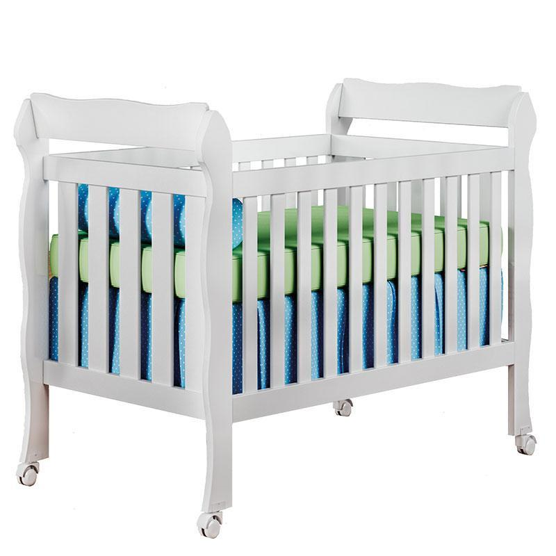Quarto de Bebê Selena 3 Portas com Berço Lila Branco Brilho - Carolina