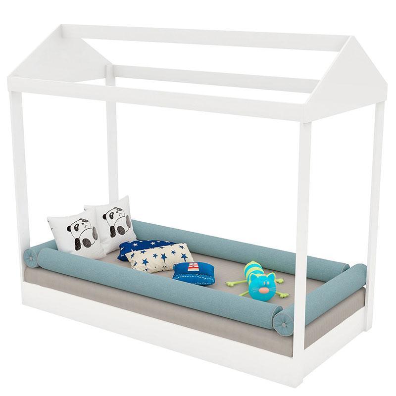 Quarto de Bebê Smart 3 Portas com Cama Montessoriana Branco Brilho - Matic