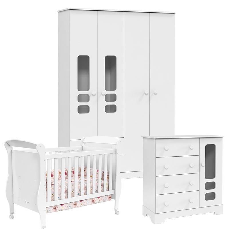 Quarto de Bebê Smart Branco Brilho - Matic