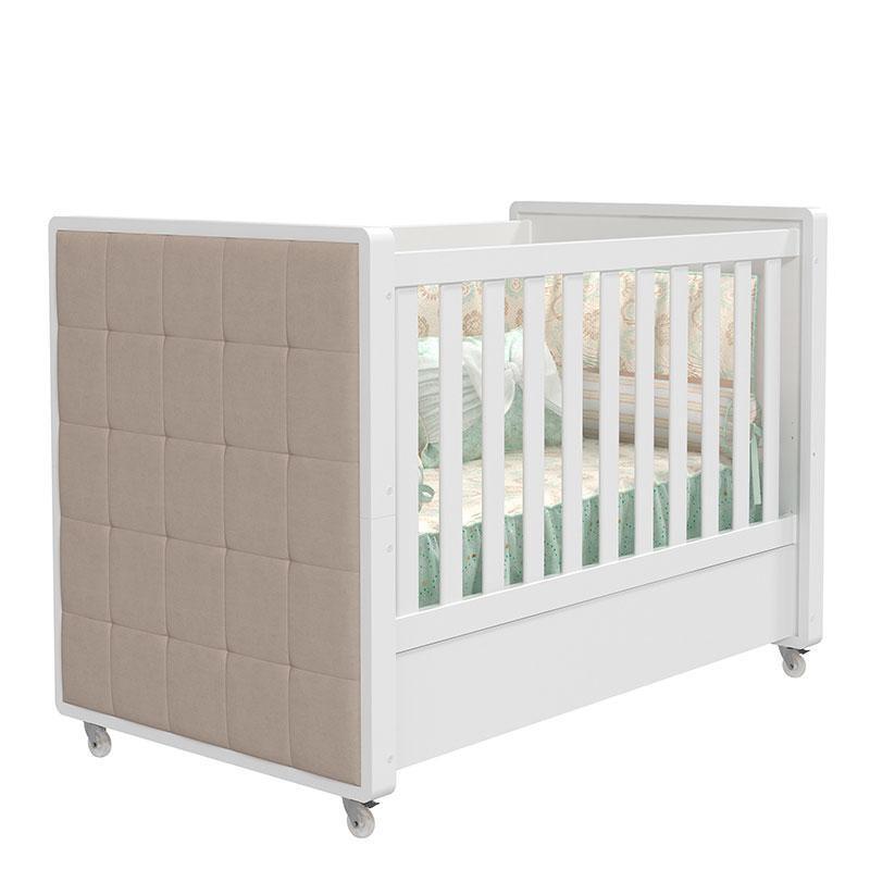 Quarto de bebê Tutto New 4 Portas Branco Acetinado com Capitonê - Matic