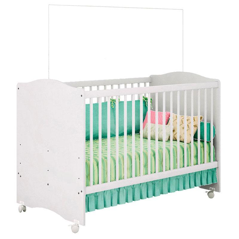 Quarto de Bebê Xodó 3 Portas Branco Brilho - Móveis Estrela