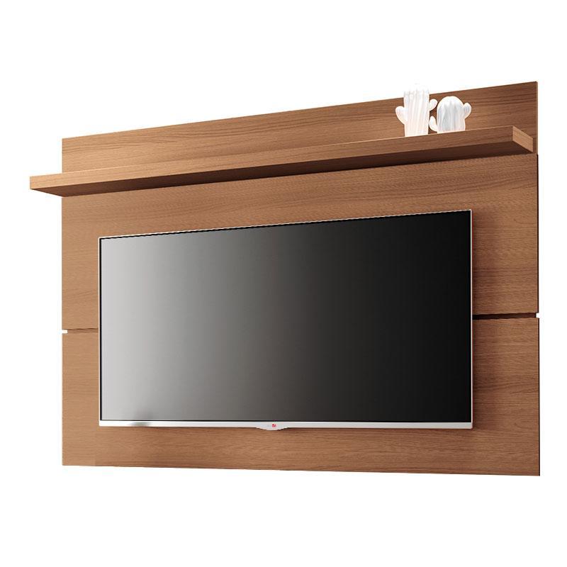 Rack Bancada e Painel para TV Rivera 1.8 Nature Preto - HB Móveis