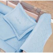 Kit Acessórios p/ Berço Desmontavel (Edredom e Almofada) 100% Algodão - Azul