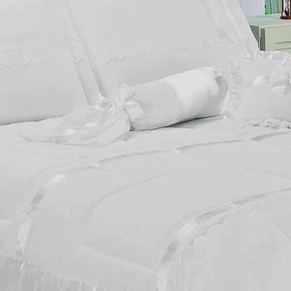 74a5bc1110 ... Edredom Queen Perola 06 Peças Bordado Ultrassônico - Branco - Docellar  Enxovais