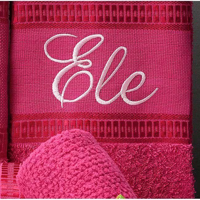 9f0e1806f8bd3b Jogo de Banho Aline Bordado 05 Peças 100% Algodão - Pink - Docellar ...