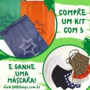 KIT 03 peças de sacos térmicos para alimentos + Máscara Reutilizável
