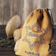 Saco para alimentos de algodão   Batata