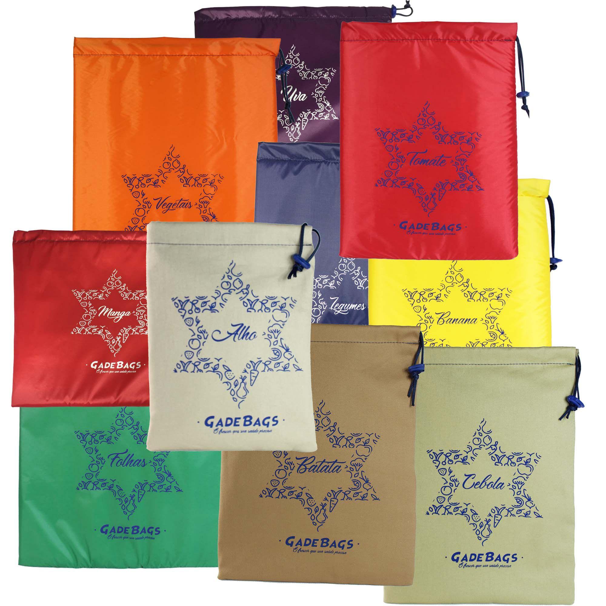 KIT 10 peças de sacos térmicos para alimentos