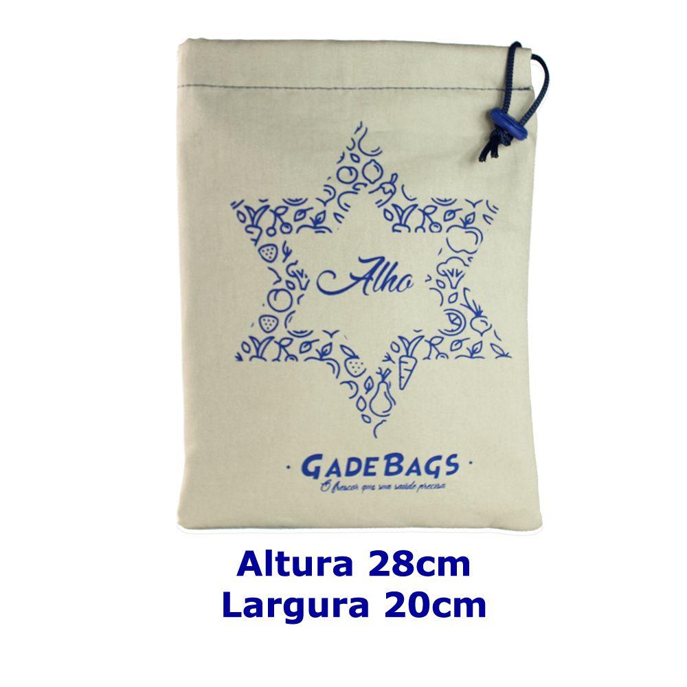 KIT algodão 03 peças de sacos para alimentos