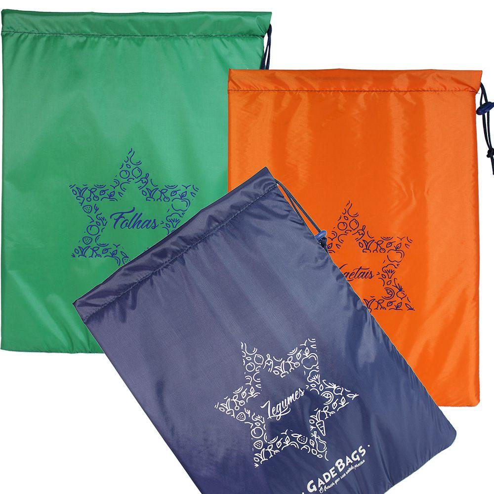 KIT 03 peças de sacos térmicos para alimentos