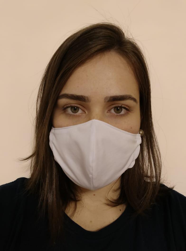 Máscara Reutilizável KIT COM 10 UNIDADES BRANCAS