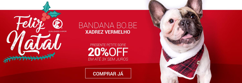 Bandana Xadrez Vermelho Bo.be