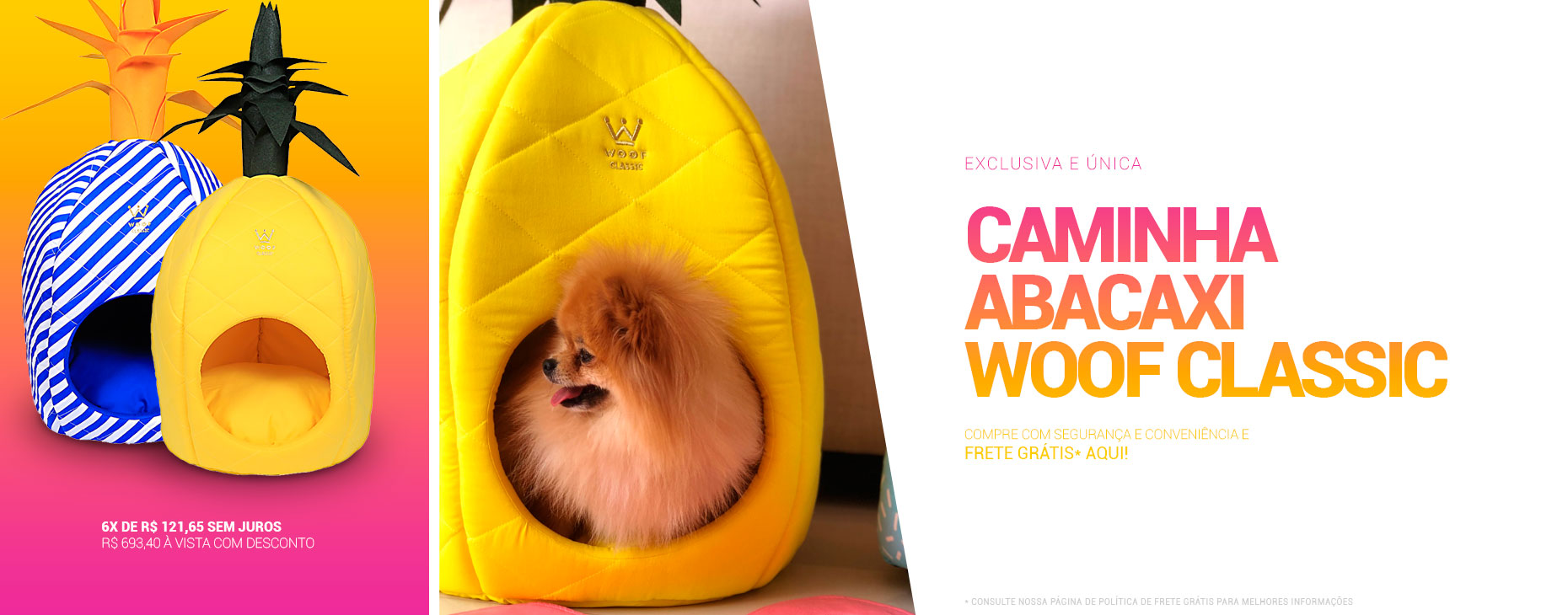 Cama ABACAXI WOOF: especial e exclusiva! Mais detalhes aqui.
