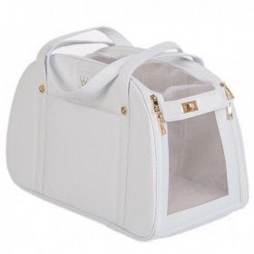 Bolsa de Passeio Woof Classic Mini Matelassê Branco