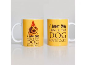 Caneca de Cachorro Love You Like a Fat Dog Like Cake