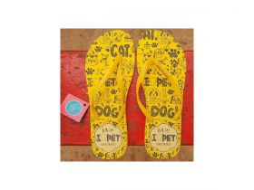 Chinelo Amarelo I Love Pet